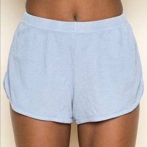 Brandy Melville Lisette Thermal Shorts in Blue